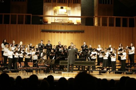 "The NIU University Choir performs ""World Voices"" in the Boutell Memorial Concert Hall in this Oct. 15, 2009 file photo."