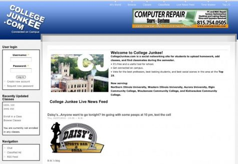 Collegejunkee.com combines academics and a social network site rolled into one.