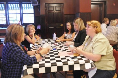 Local business members meet at O'Leary's Irish Pub and Grill Tuesday evening during a speed networking event put on by the DeKalb Chamber of Commerce. The event was hosted by O'Leary's as well as Kishwaukee Community College.