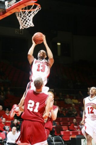 Xavier Silas goes up for two of game-high 34 points Sunday night against Cardinal Stritch.