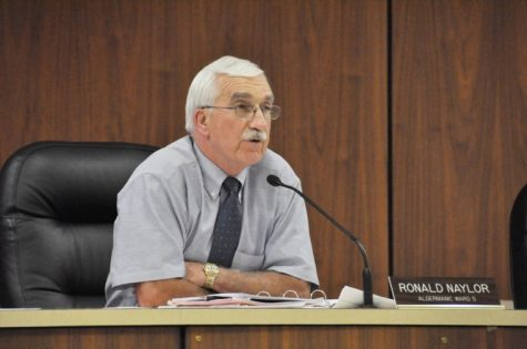 Ron Naylor, DeKalb 5th Ward Alderman, speaks at a DeKalb City Council meeting.