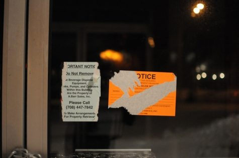 Signs on the door of 1215 Blackhawk Drive ask authorities not to remove equipment from the building. The location, once the home of both Reilly's and Tequila Roadhouse, has reportedly been operating as a nightclub for private functions. With no liquor or food license, however, the club, known as