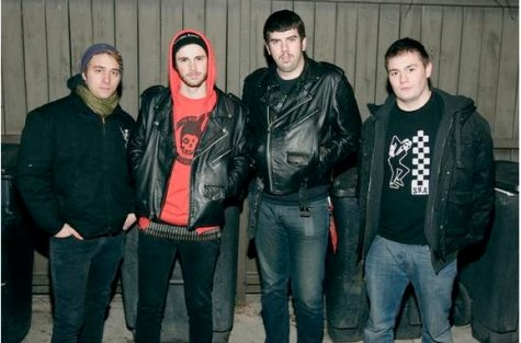 The Turbovamps!, a Chicago-based horror punk band that includes senior communications major Stephen DeFalco (second from left), have made a niche for themselves in the DeKalb punk scene.