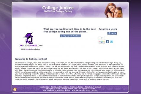 Screenshot CollegeJunkee.com, created by NIU alum Alex Broches, has converted from a social networking website to a college dating site.