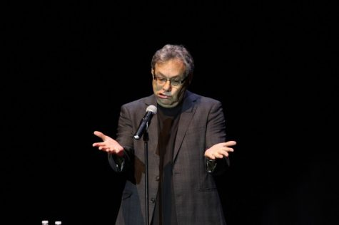 Lewis Black preformed at the Egyptian Theatre Thursday night.