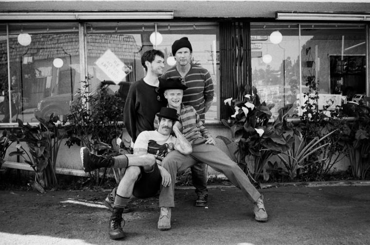 """(From left) Josh Klinghoffer (guitar), Anthony Kiedis (vocals), Michael """"Flea"""" Balzary (bass) and Chad Smith (drums) make up Red Hot Chili Peppers, the rock legends who toured their album Blood Sugar Sex Magik through the Duke Ellington Ballroom before it went multi-platinum. Oh, and Peal Jam and Smashing Pumkins opened the show."""