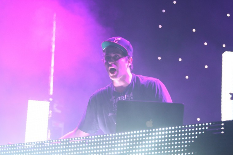 Derek Smith of Pretty Lights, a genre of dubstep, performs live at the Convocation Center Thursday night.