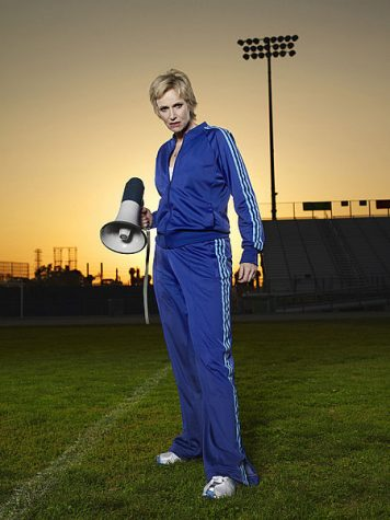Jane Lynch as Sue on Glee, the one-hour comedy musical series on FOX.
