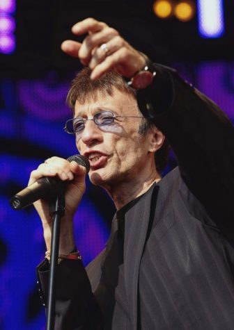 FILE This Saturday Aug. 15, 2009 file photo Britain's Robin Gibb performs in the park of Ledreborg Castle near Roskilde, Denmark. (AP Photo/Polfoto,Jens Dige)