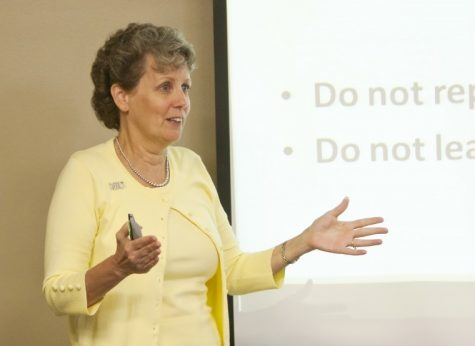 Jane Jordan gives 'Dollars and Cents' presentation