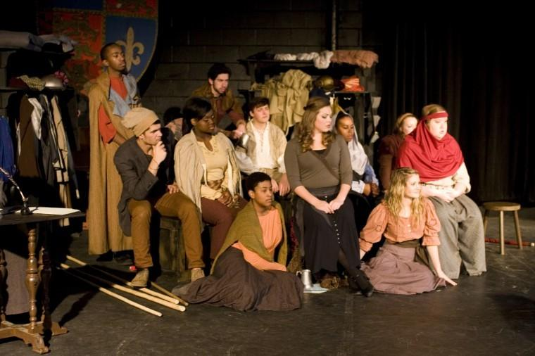 The Cast of he The Canterbury Tales runs through their final dressed rehearsal in Stevens Building Corner Theatre. The Canterbury Tales will begin playing tonight at 7:30pm Stevens Building Corner Theatre.