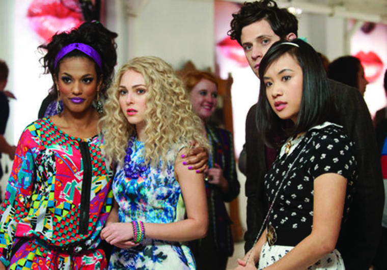 The Carrie Diaries Pictured (L-R): Freema Agyeman as Larissa, AnnaSophia Robb as Carrie, XX as Seth, and Ellen Wong as Mouse -- Image Number: CD103a_0046b.jpg -- Photo: Barbara Nitke/The CW -- © 2012 The CW Network, LLC. All rights reserved.