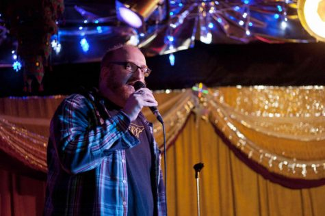 Comedian Brian Posehn performs his stand-up comedy act at the House Cafe on Friday night. His stand-up focused on personal anecedotes and his love for all things nerdy, particularly Star Wars.