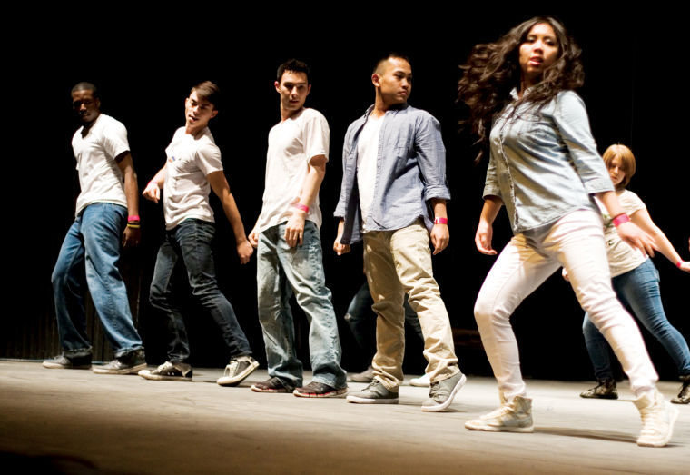 Animations dance group performs to Michael Jackson's hit song Beat It on Tuesday night at the Tribute to the King of Pop in O'Connell Theatre.