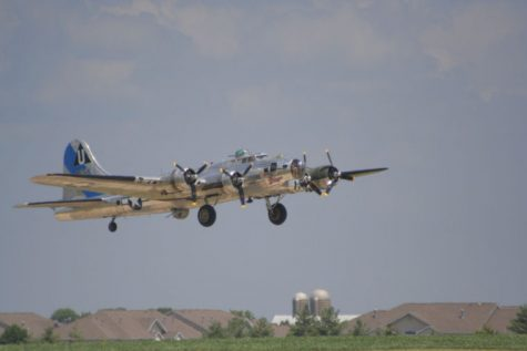 One of the last flying B-17 bombers from World War II takes off July 22 at the DeKalb Taylor Municipal Airport. Co-piloted by Sycamore resident Fred DeWitt, this airplane was built in 1944 and was used on many missions throughout World War II.