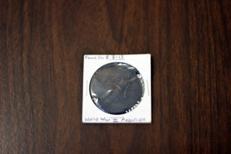The World War II medal Andy Reiss found.