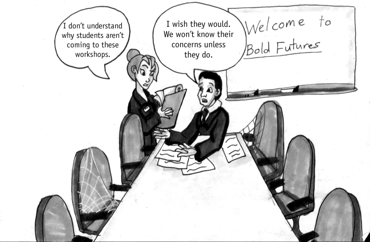 Students need to attend Bold Futures Workshops