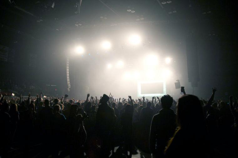 Crowds cheer durring Kid Cudi's performance that attrracted a sold out venue at the Convocation Center March 31.
