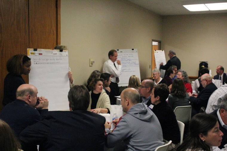 Students, staff and professors formulated ideas and solutions to campus topics, including student retention, research and technology Wednesday, during the Bold Futures Workshop in the Holmes Student Center's Heritage Room.
