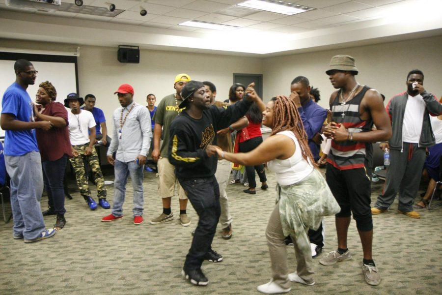 Members of Alpha Phi Alpha celebrate the fraternity's 50th anniversary Friday in the Stevenson Multipurpose Room. Alpha Phi Alpha brothers will host service events and motivational speakers to celebrate the anniversary.