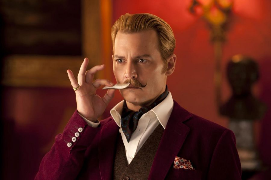 """""""Mortdecai,"""" which was released Friday and stars Johnny Depp, includes several jokes centered around his newly grown mustache."""