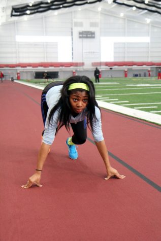 Freshman A'Iesha Irvin-Muhammad has been a standout for track and field this season. She qualified for the MAC Indoor Championships in her second meet of her career, the Illini Classic on Jan. 18.