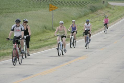Riders climb Malta Road as they near the first rest-stop during the Tour De Farms race on June 22, 2013. Proceeds benefited multiple sclerosis research.
