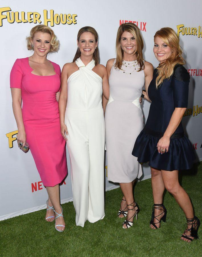 """From left: Actresses Jodie Sweetin, Andrea Barber, Lori Loughlin and Candace Cameron Bure attend the premiere of """"Fuller House"""" on Feb. 16 in Los Angeles. The show debuted on Netflix on Friday and while it included some of our favorite characters, the plot seems to not have a clear focus."""