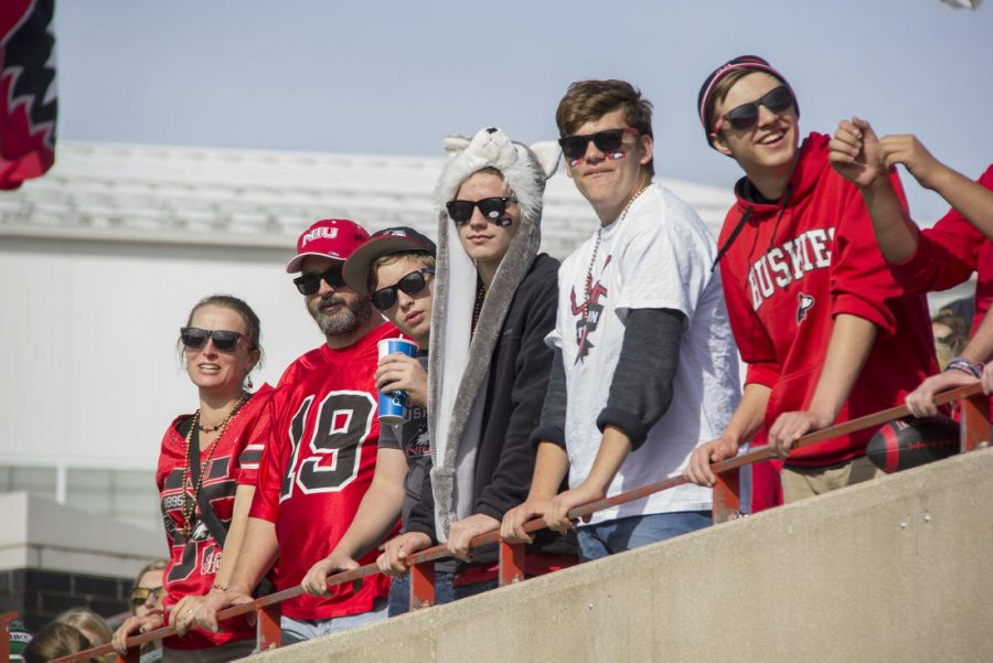 Fans+watch+as+the+Huskies+beat+Ball+State+59-41+on+Oct.+10%2C+2015%2C+at+Huskie+Stadium.+The+game+was+one+of+six+games+part+of+the+Mission+6+initiative+presented+by+NIU+Athletics.+The+initiative%2C+which+made+students+eligible+for+free+tuition+for+the+spring+2016+semester+if+they+attended+and+stayed+at+every+home+football+game%2C+was+declared+unsuccessful+as+the+goal+to+have+at+least+6%2C000+NIU+students+at+each+game+was+not+accomplished.