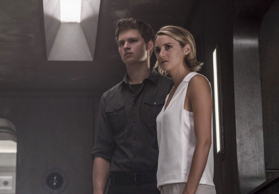 """Actors Ansel Elgor (left) and Shailene Woodley play Caleb and Tris Prior in the new Divergent series film, """"Allegiant."""""""