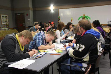 Students destress before finals