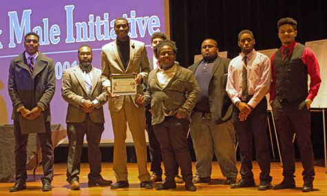 Members of the Black Male Initiative were acknowledged at the ceremony for their academic achievements, community outreach and leadership development.