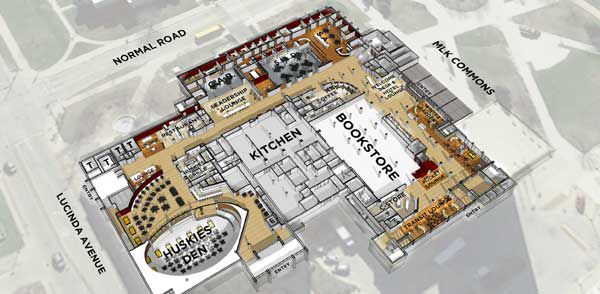 The proposed renovations to the Holmes Student Center are estimated to cost $20 million.