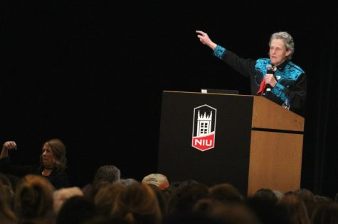 Autism spokesperson Temple Grandin talks about her personal experience with autism during her event, Developing Individuals Who Have Different Kinds of Minds. Grandin spoke Wednesday in the Duke Ellington Ballroom.