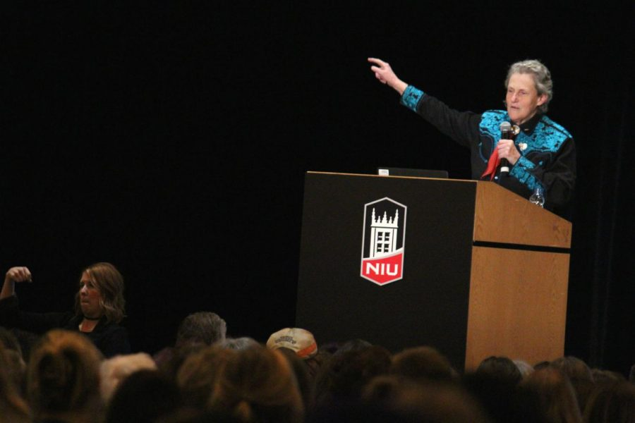 Autism+spokesperson+Temple+Grandin+talks+about+her+personal+experience+with+autism+during+her+event%2C+Developing+Individuals+Who+Have+Different+Kinds+of+Minds.+Grandin+spoke+Wednesday+in+the+Duke+Ellington+Ballroom.