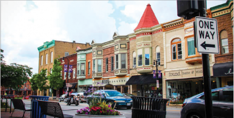Downtown DeKalb features several restaurants and shops for residents to explore.