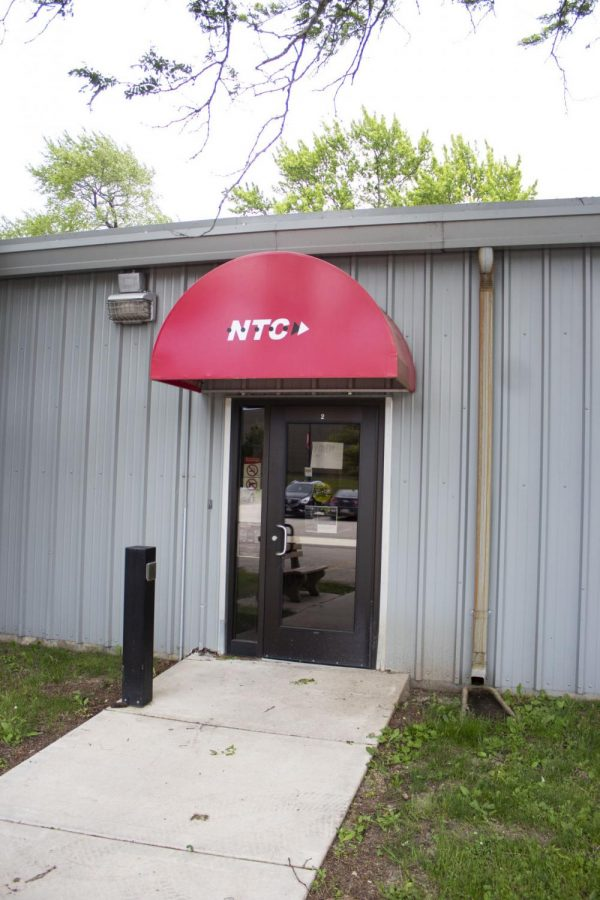 The entrance of the Northern Television Center,123 Stadium Drive, stands closed on June 14.