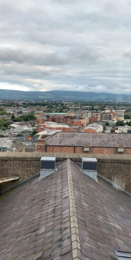 The view from on top of the Guinness Storehouse.