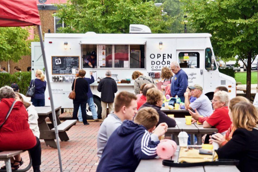 Open Door Coffee parks their truck for Taste of DeKalb Sunday inFrank Van Buer Plaza,148-198 N. Second St., in downtown DeKalb.