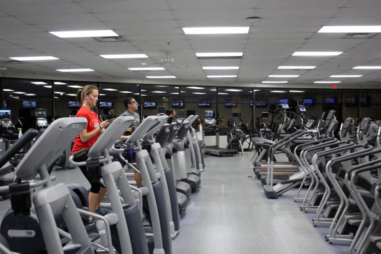 In this Nov. 11, 2013, file photo, students exercise at the Recreation Center Friday night.