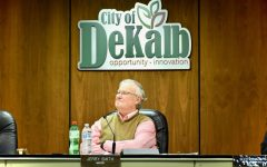 In this Oct. 28 photo, Mayor Jerry Smith listens to council proceedings in the DeKalb Municipal Building, 200 South Second Street.