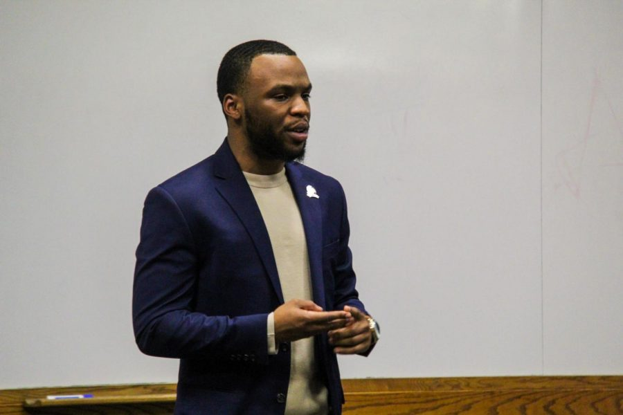 In this March 27 file photo, former SA President Khiree Cross speaks at a State of the Union Address in the Campus Life Building, Room 100.