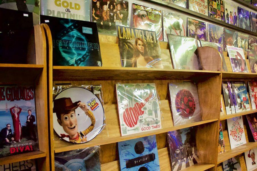 Besides selling the work of artists like Ed Sheehan and The Beatles, the store also sells the music of local musicians.