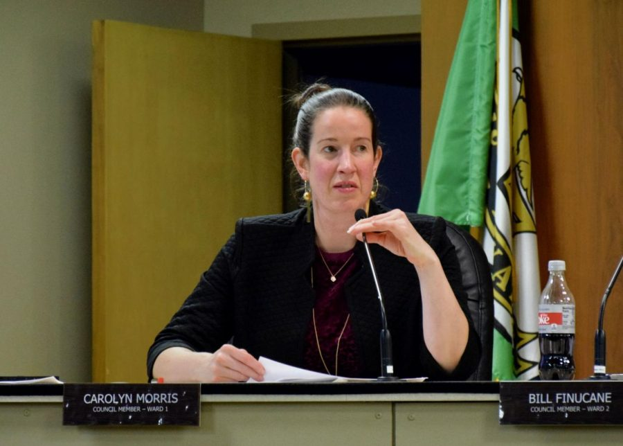 In+this+Oct.+31+file+photo%2C+Alderwoman+Carolyn+Morris+discusses+industrial+developments+at+a+city+council+meeting.