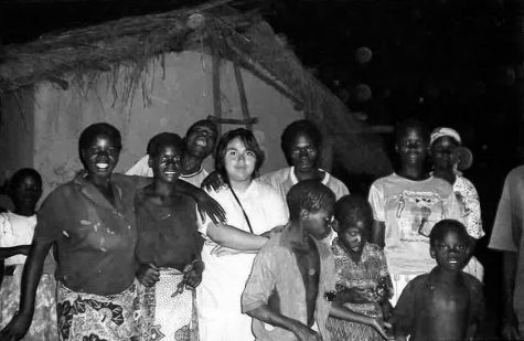 Northern Star contributor Alma Garcia (fifth from left) stands in 2008 with native Malawian teenagers 2008 in Chitunda, Malawi.