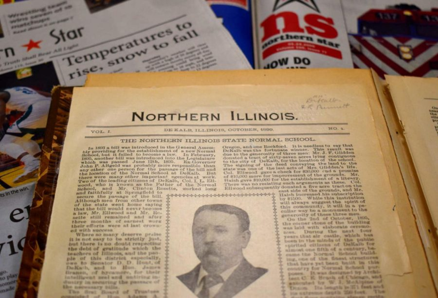 The+first+issue+of+the+student+newspaper%2C+then+titled+the+%22Northern+Illinois%2C%22+was+printed+in+1899.