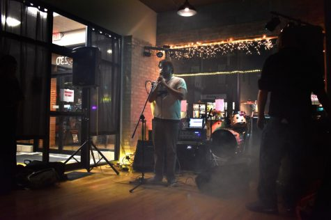 Jace Pesina, founder of the College Town Music Collective, introduces KULE Saturday at Byer's Brewing Company, 230 E. Lincoln Highway.