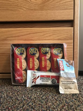 Try granola bars instead of Ritz cheese crackers.