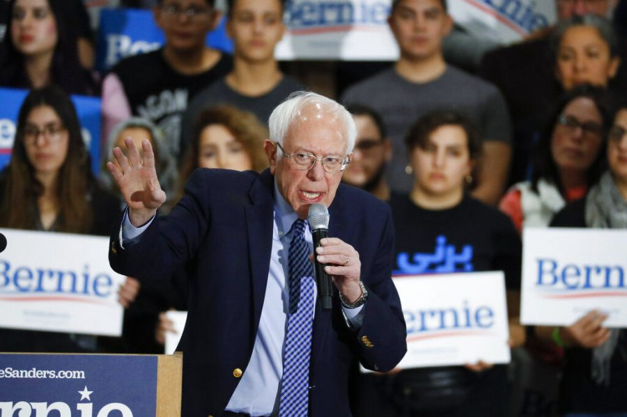 Democratic+presidential+candidate+Sen.+Bernie+Sanders%2C+I-Vt.%2C+speaks+during+a+campaign+rally+in+Dearborn+Saturday%2C+March+7%2C+2020.