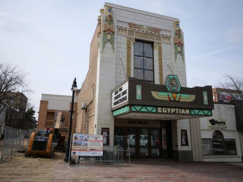 The Egyptian Theatre sits closed March 24 due to the COVID-19 pandemic.